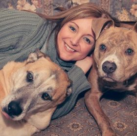 Veterinarian, Dr. Loudon with Her Dogs, Brody and Joey